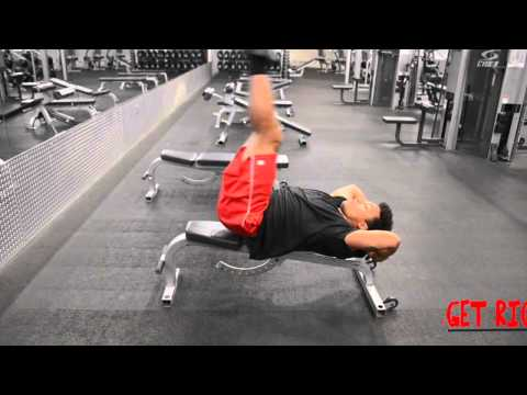 Tutorial Flat Bench Lying Leg Raise