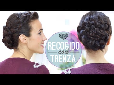 Recogido de trenzas rom ntico youtube - Peinados recogidos con trenzas ...