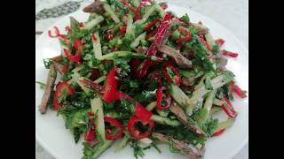 Мега острый салат
