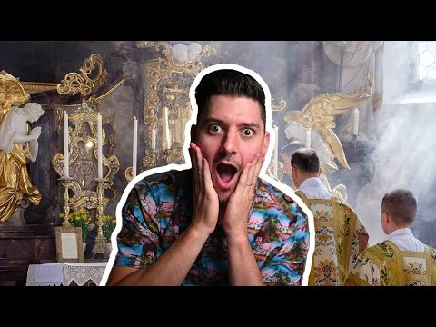 Protestant REACTS to First Catholic Mass! (Cameron Bertuzzi)