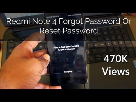 Redmi Note 4 Reset Forgot Password/ How to Reset Password Mi