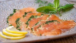 How to Make Salmon Gravlax - Homemade Gravlax salmon - Best Gravlax Recipe