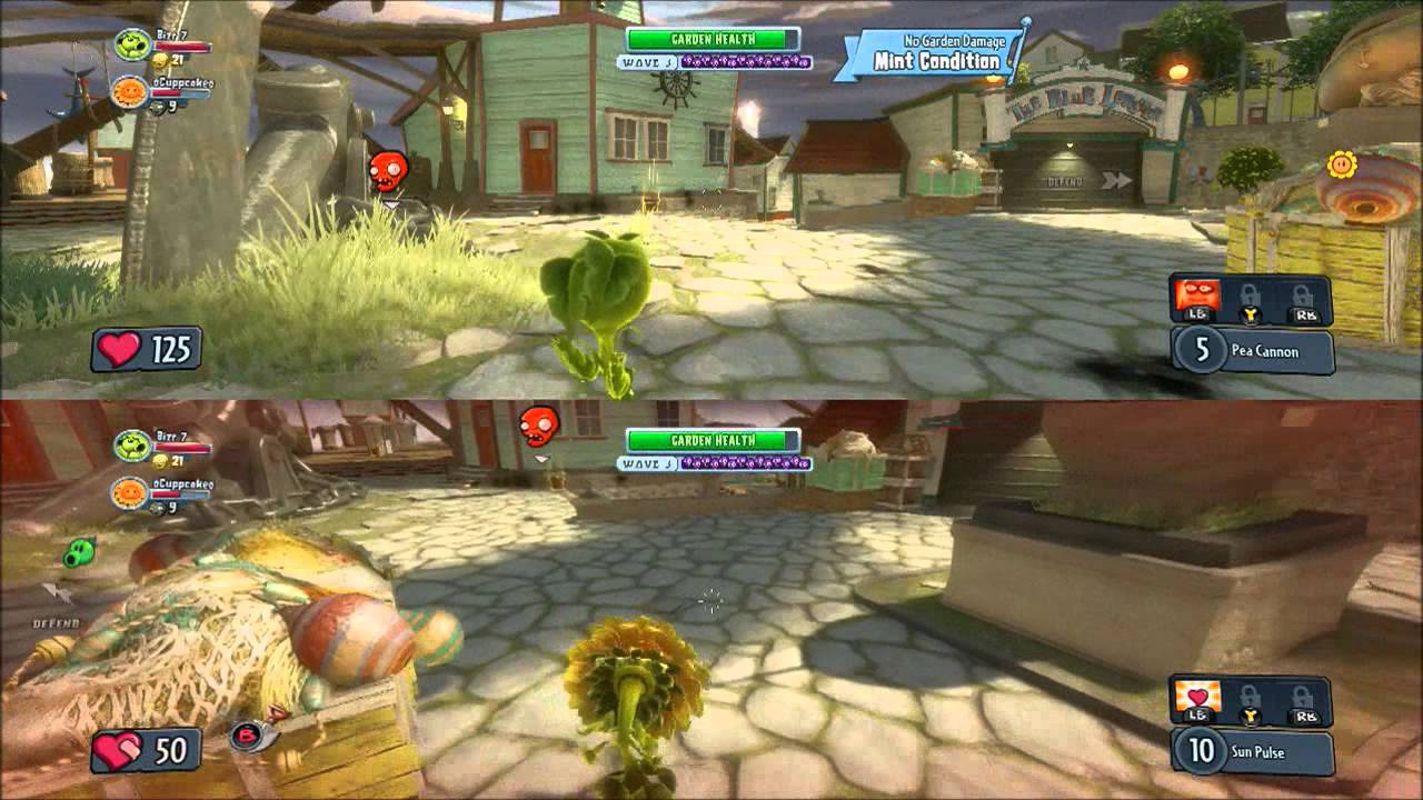 Plants Vs Zombies Garden Warfare Gameplay Mulitplayer Split Screen Co Op Xbox One Hd Youtube