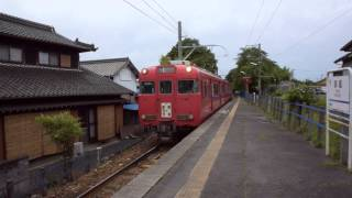 名鉄広見線 御嵩駅 6000系到着