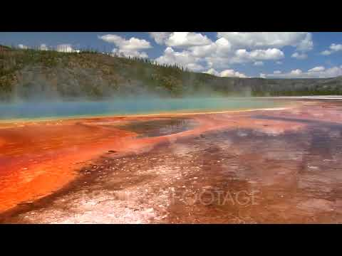 Dramatic Colors Of Grand Prismatic Spring Yellowstone National Park.