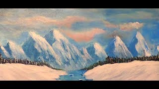 """The """"Secret"""" to perfect mountains every time Step by Step Acrylic Painting for Beginners Part 1"""