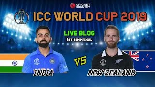 Live:India vs New Zealand Live Score||World Cup 2019 semi final||IND vs NZ Live Streaming,