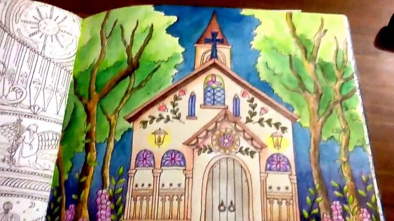 Romantic Country, 2nd Tale Coloring Book - 5 colored pages