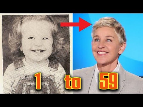 Ellen DeGeneres from 1 to 59 Years old | Journey from Childhood to Comedian Host Actress