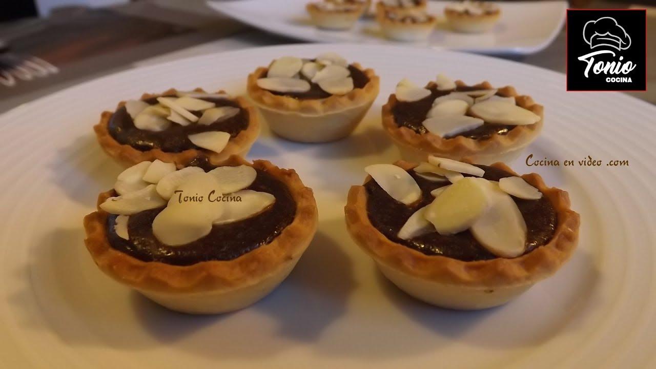 Canap s de chocolate receta muy f cil youtube - Postres ligeros y rapidos ...
