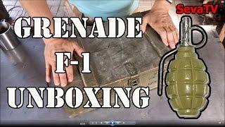 Grenade F-1 unboxing/ Анбоксинг: Ящик гранат Ф1 и картавый