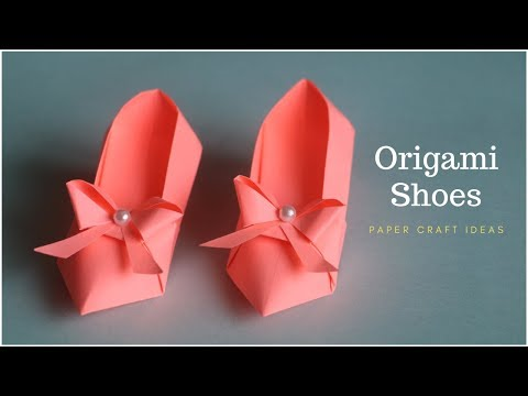 Origami Shoes DIY Tutorial | Paper Craft | Paper Folding Crafts | Shoe Making with Paper