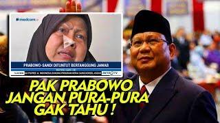 """Orang Tua Kampanye Hitam , Tuntut Prabowo Sandi Ikut Bertanggung Jawab """" Jangan Dibuang Dong """""""