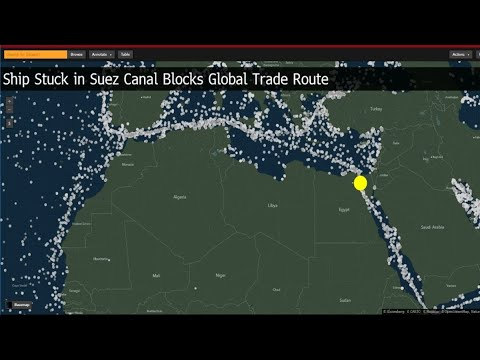 Oil Rallies as Stuck Ship Blocks Suez Canal