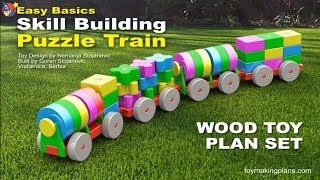 Wood Toy Plans - Skill Building Puzzle Train