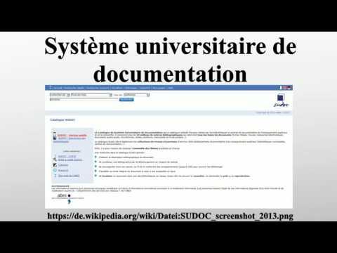 Système universitaire de documentation