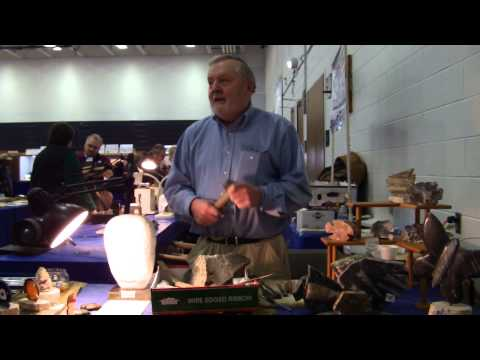Richard Bailey, Master Stone Sculptor Demo at the DMS Gem, Mineral & Fossil Show 2015