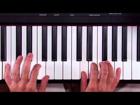 """An easy piano lesson - learn to play the children's song """"This Old Man"""""""