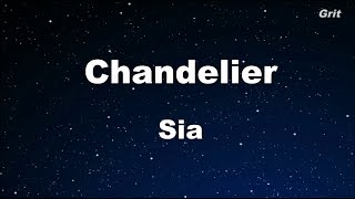 Download Chandelier - Sia Karaoke 【With Guide Melody】 Instrumental Mp3 and Videos