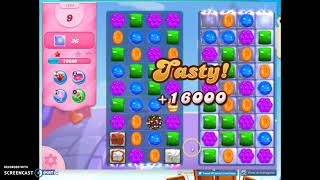 Candy Crush Level 1384 Audio Talkthrough, 2 Stars 0 Boosters