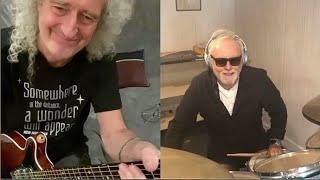 Bri May/Roger Taylor guitar and drum jam WATC - 16 April 2020
