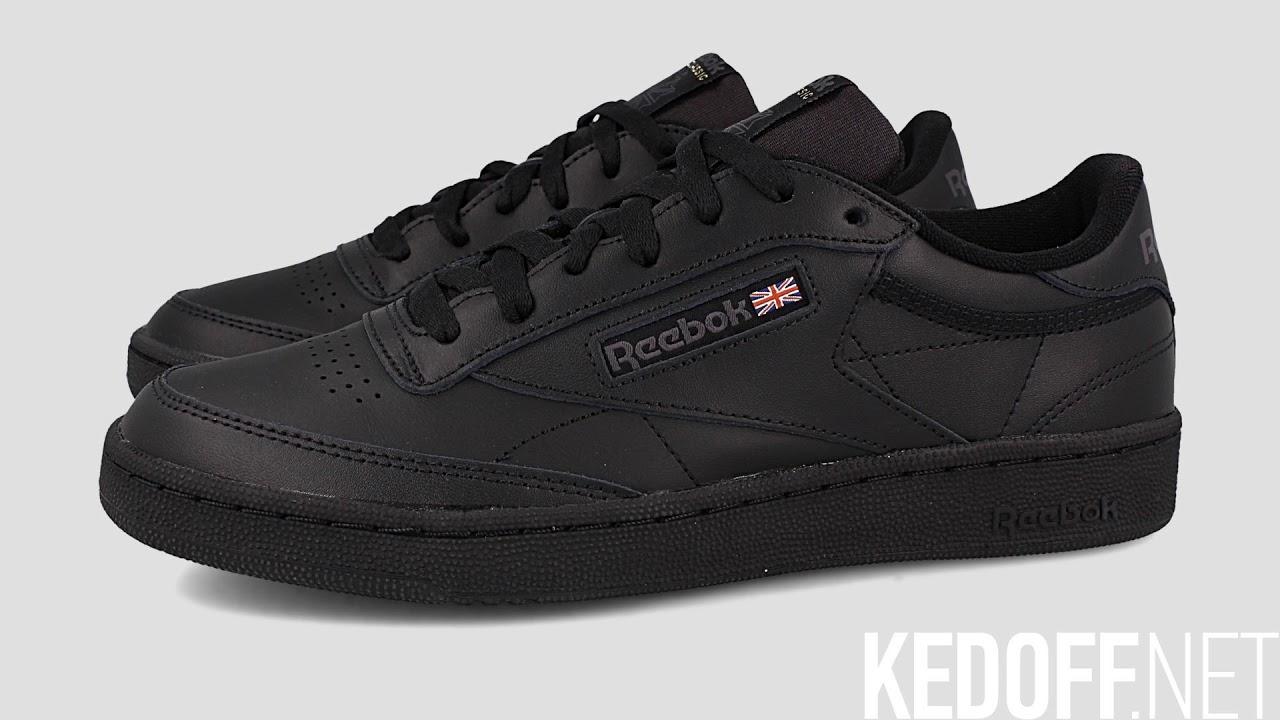 Мужские кроссовки Reebok Club C 85 AR0454 Black Charcoal - YouTube 459036a5b