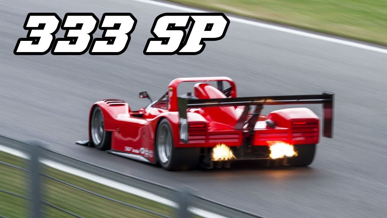 Ferrari 333 Sp Flames And Great V12 Sounds Spa 2017 Youtube