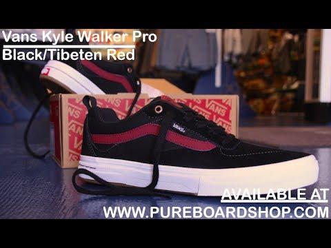 3b273c7e7dd Vans Kyle Walker Pro Skate Shoe Review Black Tibetan Red - pureboardshop.com