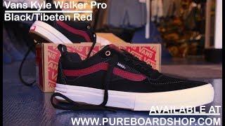 Vans Kyle Walker Pro Skate Shoe Review Black Tibetan Red -  pureboardshop.com ... 7e59906dd