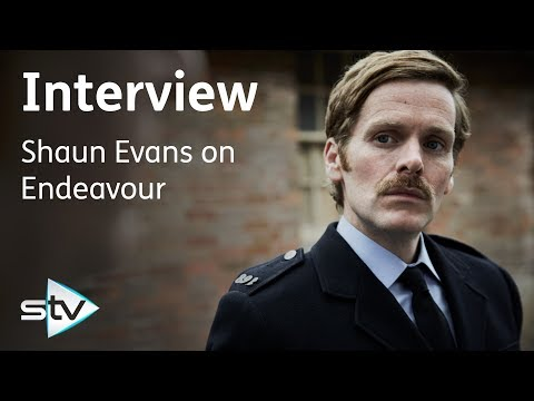 Shaun Evans explains his new moustache - Endeavour