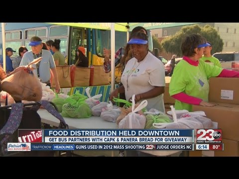 Food distribution held downtown