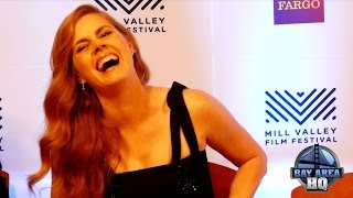 "Amy adams impersonates denis villenueve at ""arrival""  mill valley film festival press conference"