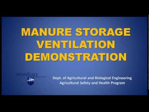 Solid Cover Manure Storage Ventilation and Safety