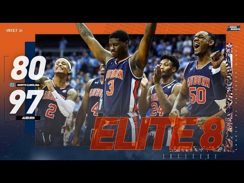 North Carolina vs Auburn: Sweet 16 NCAA tournament extended highlights
