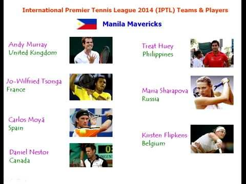 International Premier Tennis League (IPTL) 2014 Teams & Players