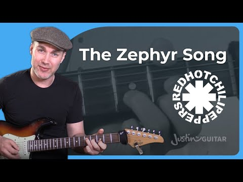Red Hot Chili Peppers - The Zephyr Song Guitar Lesson Tutorial John Frusciante RHCP