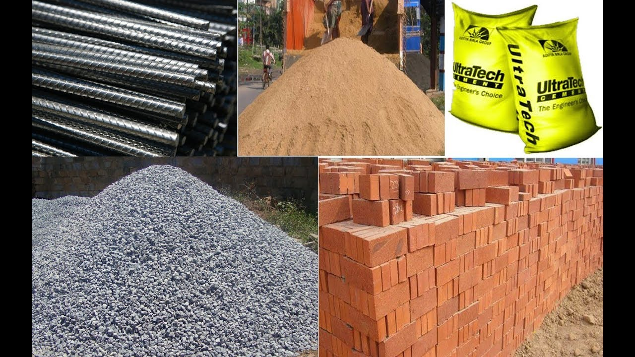 Construction Materials Used In Civil Engineering Youtube