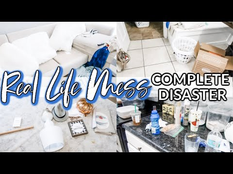 REAL LIFE MESS | COMPLETE DISASTER CLEANING MOTIVATION | MESSY HOUSE TRANSFORMATION | CLEAN WITH ME