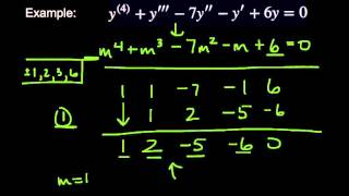 Solving Higher-Order Differential Equations Using The Auxiliary Equation