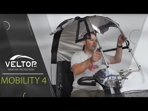 Assembling :  Electric mobility scooter rain and sun protection