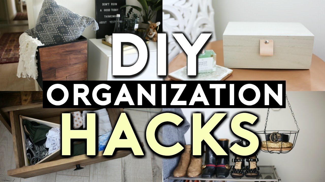 10 Diy Room Decor Life Hacks Tumblr Organization 2017 Youtube