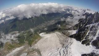 Mont Blanc - DOWNHILL RUN - FPV wingsuit - BASE Jumping edition!