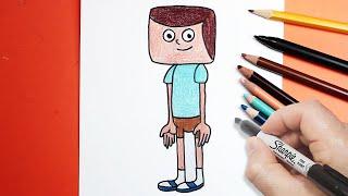 رسم جف كلارنس بالرصاص والالوان | تعليم الرسم للاطفال