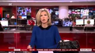 Watch BBC News presenter caught brushing hair live on air as she prepares for morning bulletin