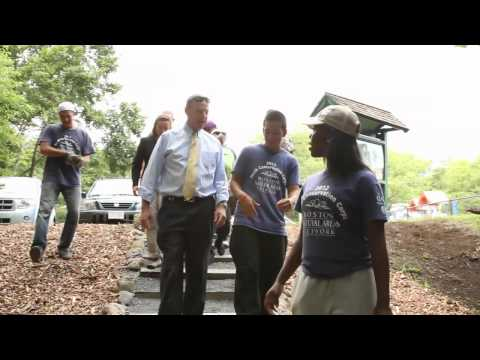 Local youth help expand Neponset River trail behind Ryan Playground