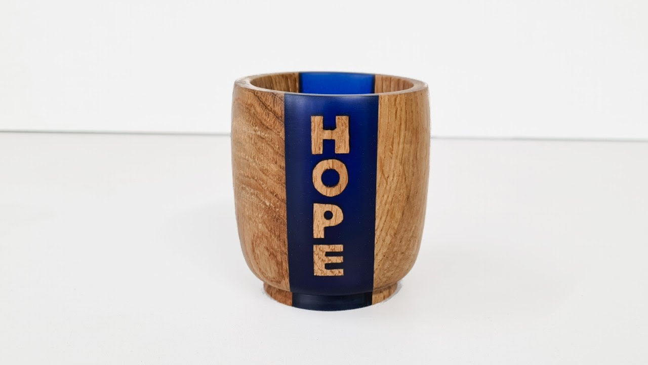 There's HOPE in woodturning resin bowls