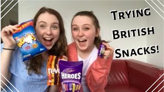 american couple tries british snacks