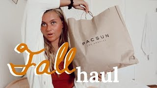 mini fall clothing haul   urban outfitters, free people, pacsun, etc.