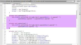 Android Spinner OnItemSelectedListener example to create Thought App pt 10