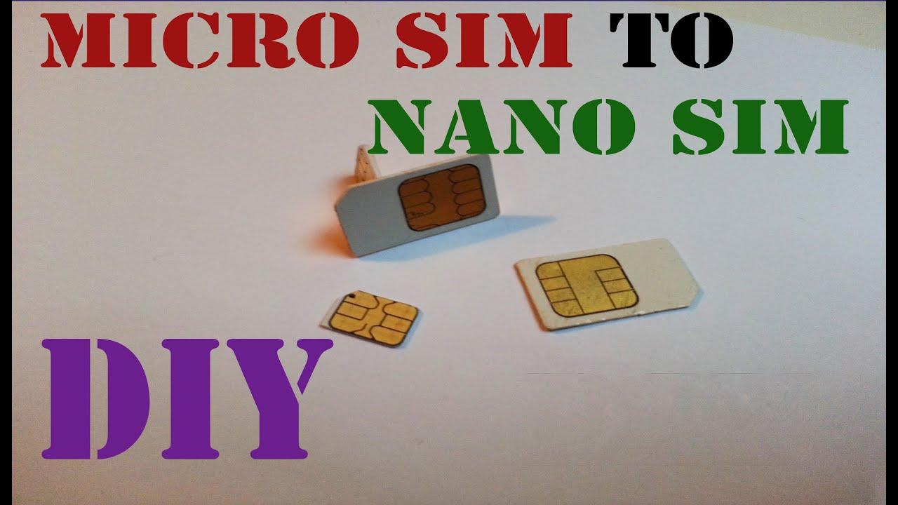 Micro SIM to nano SIM DIY - YouTube